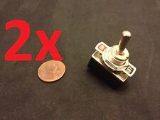 """2 Piece On/Off 2 Way SPST Metal Handle Toggle Switch AC 125v 4A dc 1/2"""" hole c15"""