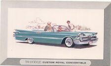 Dodge 1959 Custom Royal Convertible original Postcard