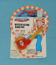 vintage The Amazing Spider-Man Mystery Action Blow Pipe Moc rack toy