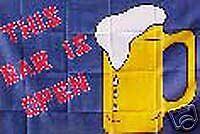 Bar is Open  RV NASCAR Toy Box Trailer Flag #R-005