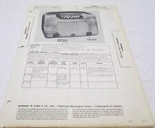 Vintage Photofact Folder Minerva Models L-728 & W-728 Radio Parts Manual
