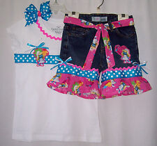Custom boutique Smurf Smurfette jeans outfit all sizes