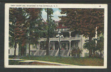 1920s GREY COURT INN STAMFORD IN THE CATSKILLS NY POSTCARD