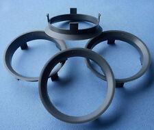 (A601571) 4x  Zentrierringe 60,1 / 57,1 mm dunkelgrau für Alufelgen
