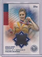 RARE 2014 TOPPS OLYMPIC ASHLEY WAGNER SILVER RELIC CARD 24/50 ~  FIGURE SKATING