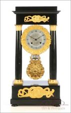 Antique French Portico Mantel Clock Berket a Paris. France, Circa 1900