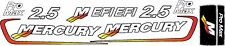 mercury 2.5 alien racing oem or red and blue decal kits