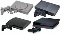 ⭐ Sony PlayStation PS2 PS3 PS4 - 1 Console 1 Control and Cables