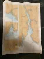 Vintage 1989 Colour Admiralty Chart 147 'Plans Of The South Coast Of Cornwall'