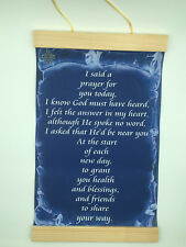 I said a prayer for you today, Canvas Wall Print, 8x12. Dark Blue