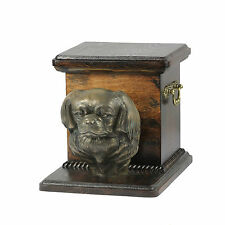 Tibet-Spaniel, Urne, Kalte Bronze, ArtDog, AT, Type 2
