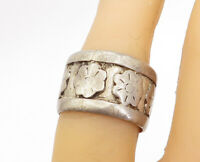 TAXCO 925 Silver - Vintage Antique Etched Flower Pattern Band Ring Sz 7 - R17044