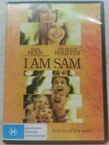 I Am Sam DVD Sean Penn 2001 Touching Drama Movie REGION 4