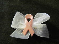 Breast Cancer Pink Dog Puppy Pet Hair Bow Ribbon on Alligator Clip