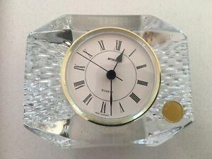 W Germany Anna Hutte Bleikristall Crystal Clock
