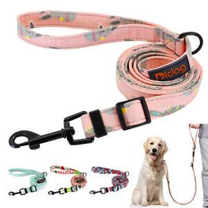 6ft Nylon Dog Walking Leash Small Medium Dog Training Rope with Handle Pink Blue