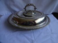 Vintage Oval Silver Plated Tureen J Rogers Sheffield Height 14 cm x 29 cm x 22cm