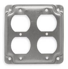 RACO 907C Cover, 4x4, 2 Duplex Receptacles