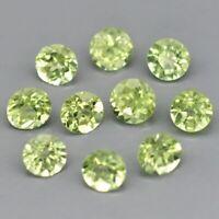 2.3mm 10pcs Lot Round Brilliant Natural Untreated Green Peridot, Pakistan