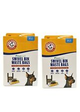 Arm & Hammer Swivel Bin Waste Bags, 20 Count, 2 Pack. Brand New. NEW PACKAGING