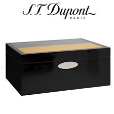ST Dupont Cohiba Collection 50 Cigar Humidor Okoume Wood Black & Yellow Lacquer