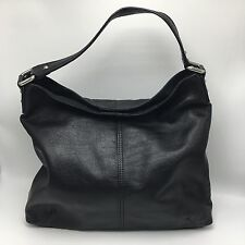 Kooba Hobo Black Pebbled Leather Large 16 x 13 Purse Handbag Shoulder Bag NEW