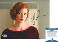 JESSICA CHASTAIN SIGNED 'LAWLESS' 8x10 MOVIE PHOTO B ACTRESS BECKETT COA BAS