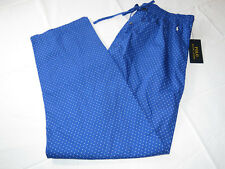 Men's Polo Ralph Lauren Sleep Pants PJ bottoms royal blue polka dots L P505SR