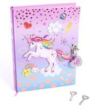 "Girls Diary with Lock - 7"" Unicorn Kids Secret Diary Journal with Two Keys"