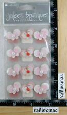 Jolee's BUTTON BUTTERFLIES 3D Boutique Stickers CORNER EMBELLISHMENT RARE