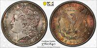 1886-P USA MORGAN SILVER DOLLAR PCGS MS63 NICE BU TONED COLOR UNC GEM (DR)