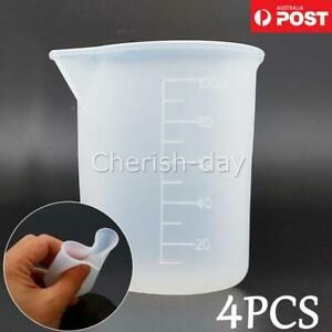 4X 100ml DIY Measuring Cup Silicone Resin Glue Crystal Epoxy Silicone Jewelry