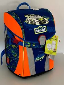 Scout Sunny Set Schulranzen 4-tlg NEU 239,- € Race Auto 53073 K405 V1
