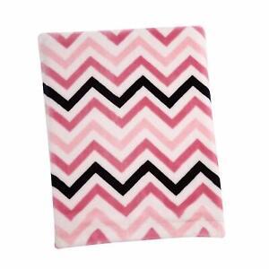 Sadie & Scout: Chelsea Pink Chevron French Fiber Baby Blanket