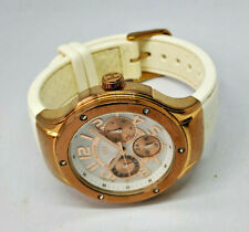 Ladies Tommy Hilfiger Rose Gold Multi Dial White Silicon Strap Watch