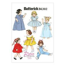 BUTTERICK SEWING PATTERN RETRO 55 CLOTHES  18 INCH DOLL COAT DRESS ROBE B6302