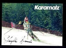 Sibylle BRUN autographe carte original signé ski alpine + a 151785