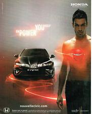 Publicité Advertising 117  2006  Honda  la nouvelle Civic power