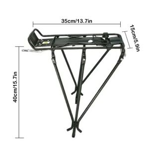 Bicycle Mountain Bike Rear Rack Seat Post Mount Pannier Luggage Carrier Metal AU