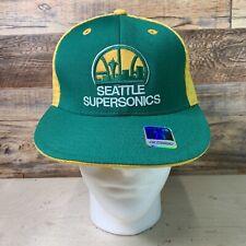 SEATTLE SUPERSONICS Retro Fitted Hat - SIZE 7 3/8 - Reebok Hardwood Classics H2