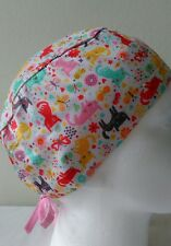 Cats Tieback Scrub/theatre cap/hat with sweatband Doctors/Nurses/Vets/Chefs/ODP