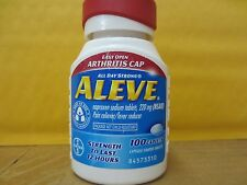 NEW ALEVE EASY OPEN ARTHRITIS CAP ( 100 COUNT ) TABLETS EXP 11/2018 ~FREE SHIP!
