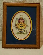 Betty Sills Artwork - Drawing Little Firefighter Angel & Dog Numbered 52/990
