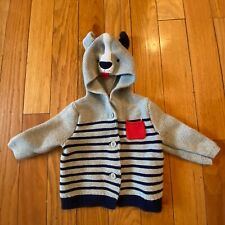 Baby Gap Boys Size 6-12 Months Hooded Striped Cardigan Sweater