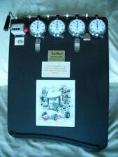 HANHART, A J FOYT MEMORIAL STOPWATCH LAP TIME BOARD & memorabilia album, HEUER
