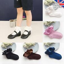 Children Kid Frilly Cotton Socks Baby Toddler Girl Breathable Princess Bow Socks