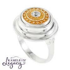 """- Size 5 *New* Orig $65 Kameleon Authentic Silver """"Tier Tabletop Ring"""" (Kr020)"""