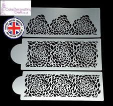 Stencils Cake Cupcake Decorating Craft Airbrush Buttercream| Camilla Rose x 3