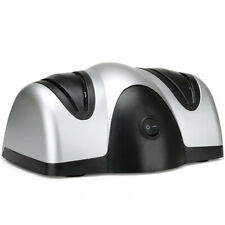 Electric Knife Sharpener 100% Diamond Coated Sharpening System Compact Kitchen