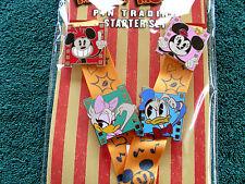 Disney * FILM FRAMES * Mickey & Friends * Deluxe 4 pin Starter Set & Lanyard